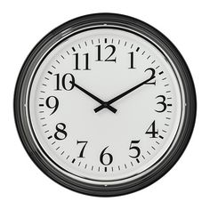 БРАВУР Настенные часы, черный Ikea