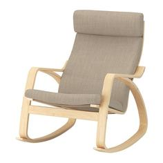 ПОЭНГ Кресло-качалка, березовый шпон, Хилларед бежевый Ikea