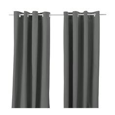 МЕРЕТЕ Гардины, 1 пара, серый Ikea