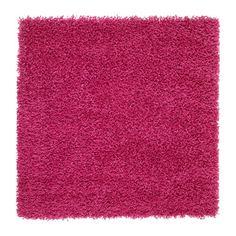 ХАМПЭН Ковер, длинный ворс, ярко-розовый Ikea