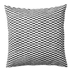 ЮППЕРЛИГ Чехол на подушку, черный/белый Ikea