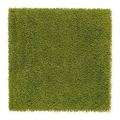 ХАМПЭН Ковер, длинный ворс, ярко-зеленый Ikea