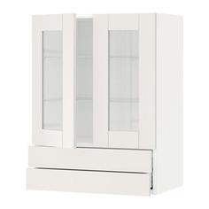 МЕТОД / МАКСИМЕРА Навесной шкаф/2 стек дв/2 ящика, белый, Сэведаль белый Ikea