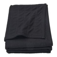 СПЭНСТ Плед, черный, серый Ikea