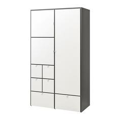 ВИСТХУС Гардероб, серый, белый Ikea