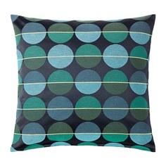 ОТТИЛЬ Чехол на подушку, синий/зеленый Ikea