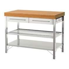 РИМФОРСА Стол рабочий, нержавеющ сталь, бамбук Ikea