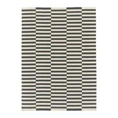 СТОКГОЛЬМ 2017 Ковер безворсовый, ручная работа в полоску, в полоску белый серый Ikea