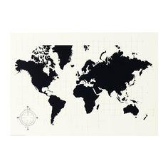 МЁЛЬТОРП Доска для записей, Карта мира Ikea