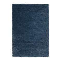 ОДУМ Ковер, длинный ворс, темно-синий Ikea