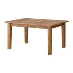 СТУРНЭС Раздвижной стол, морилка,антик Ikea