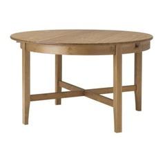 ЛЕКСВИК Раздвижной стол, морилка,антик Ikea