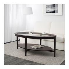 МАЛМСТА Журнальный стол, черно-коричневый Ikea