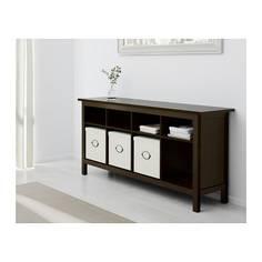 ХЕМНЭС Консольный стол, черно-коричневый Ikea