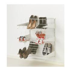 АЛЬГОТ Настенная шина /модуль д/обуви, белый Ikea