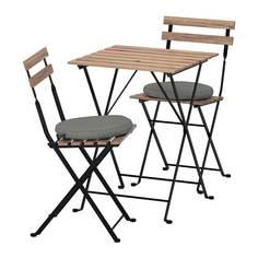 ТЭРНО Стол+2стула,д/сада, серо-коричневый, ФРЁСЁН/ДУВХОЛЬМЕН темно-серый Ikea