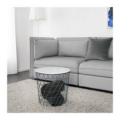 КВИСТБРУ Столик с отделениями д/хранения, бирюзовый Ikea