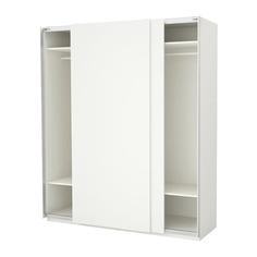 ПАКС Гардероб, белый, Хасвик белый Ikea
