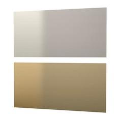 ЛИЗЕКИЛЬ Настенная панель, двусторонний желтая медь, цвет нержавеющей стали Ikea