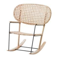 ГРЁНАДАЛЬ Кресло-качалка, серый, естественный Ikea