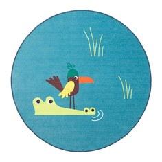 ДЬЮНГЕЛЬСКОГ Ковер безворсовый, птица, синий Ikea