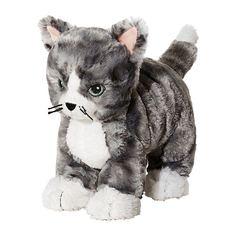 ЛИЛЛЕПЛУТТ Мягкая игрушка, кот серый, белый Ikea