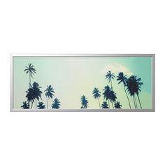 БЬЁРКСТА Картина с рамой, Солнечные дни, цвет алюминия Ikea