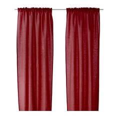 ВИТТОТЕЛЬ Гардины, 1 пара, темно-красный Ikea