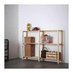 ИВАР 2 секции/полки, сосна Ikea
