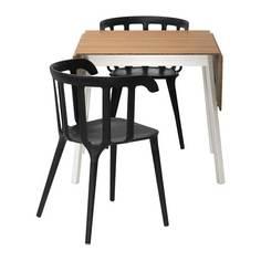 ИКЕА ПС 2012 / ИКЕА ПС 2012 Стол и 2 стула, бамбук, черный Ikea