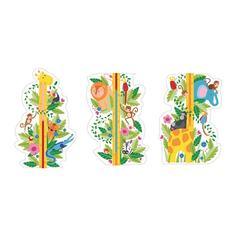 """КЛЭТТА Декоративные наклейки, ростомер """"джунгли"""" Ikea"""