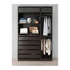 ПАКС Гардероб, черно-коричневый Ikea