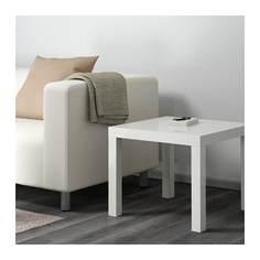 ЛАКК Придиванный столик, глянцевый белый Ikea