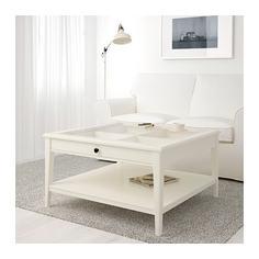 ЛИАТОРП Журнальный стол, белый, стекло Ikea