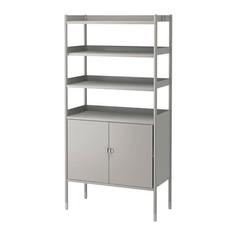 ХИНДЭ Шкаф+стеллаж д/дома/сада, серый Ikea