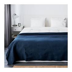 ИНДИРА Покрывало, темно-синий Ikea