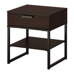ТРИСИЛ Тумба прикроватная, темно-коричневый, черный Ikea