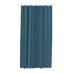 ЭГГЕГРУНД Штора для ванной, зелено-синий Ikea