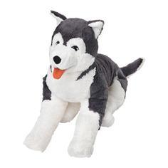 ЛИВЛИГ Мягкая игрушка, собака хаски, сибирский хаски Ikea