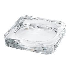 ГЛАСИГ Тарелка для свечи, прозрачное стекло Ikea