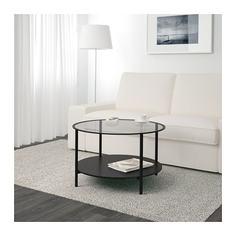 ВИТШЁ Журнальный стол, черно-коричневый, стекло Ikea
