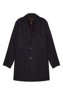 Кашемировое пальто с двойным воротником Kiton
