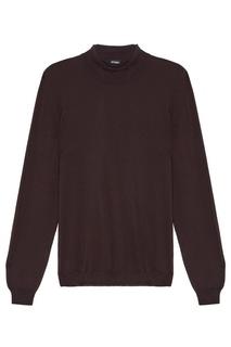 Черный пуловер с кашемиром Kiton
