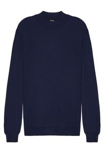 Синий пуловер с кашемиром и шелком Kiton