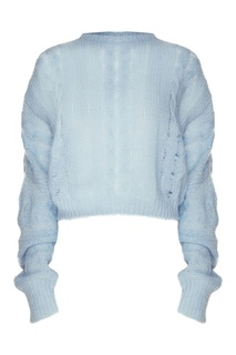Голубой джемпер с длинными рукавами Miu Miu