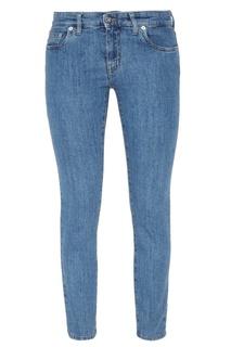 Зауженные синие джинсы Miu Miu
