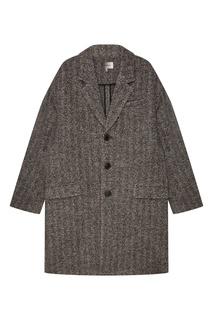 Серое шерстяное пальто Isabel Marant