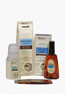 Набор DNC Кокосовое масло, 60 мл; Масло Бэй, 55 мл+ Жидкий перец для волос, 15мл