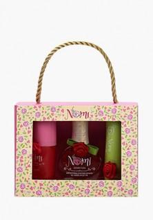 Набор косметики Nomi Лак для ногтей №03 + Блеск для губ «Клубничное варенье» + Бальзам
