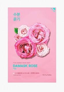 Маска для лица Holika Holika тканевая Увлажняющая Pure Essence дамасская роза